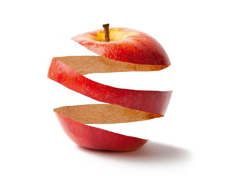 Elma kabuklarını atmıyoruz