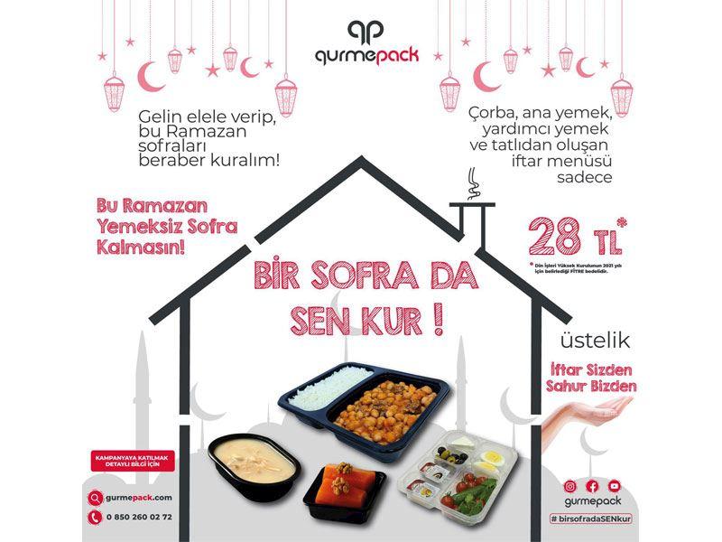 GurmePack ile bu Ramazan'da hiçbir sofra yemeksiz kalmayacak!